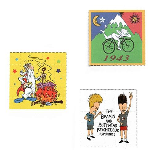 3x Pappemagnet Set 2 Blotter Art LSD Vintage Print Magnet 5cm²