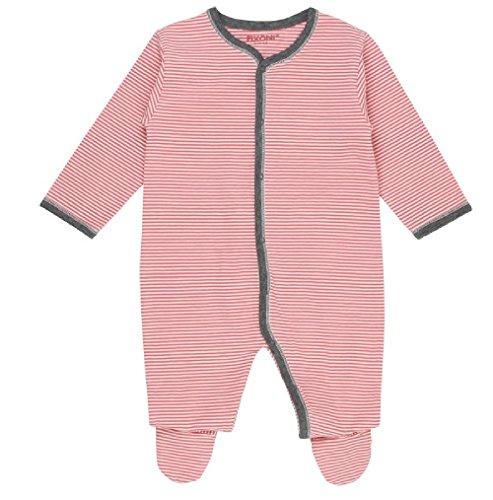 Fixoni 32516 Baby Schlafanzug Schlafstramler Baumwolle (62, rot/weiß)
