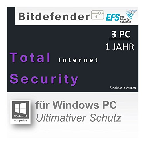 Bitdefender Total Internet Security 2016 - 3 PCs / 1 Jahr