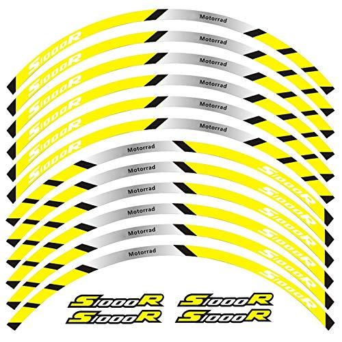 Alta calidad 12 PCS Ajustar la etiqueta de la rueda de la rueda de la rueda de la rueda de la raya del borde reflectante para S1000R (Color : 7)