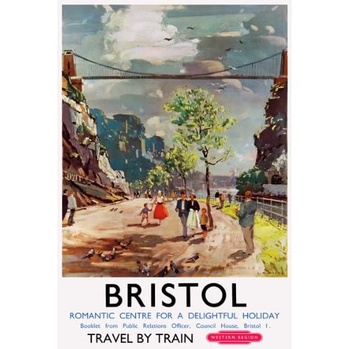 VINTAGE 1936 CORNWALL GWR TRAVEL A3 POSTER PRINT