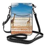Lawenp Giraffe Sky Crossbody Monedero para teléfono Pequeño Mini bolso de hombro Bolso para teléfono celular Cartera de cuero para mujeres y niñas