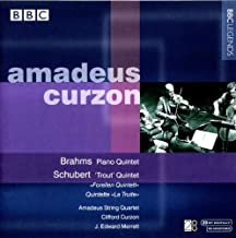 Brahms: Piano Quintet in F minor, op. 34 / Schubert:: Quintet in A for piano, strings and double bass, D.667,