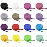 Pangaea [16-Pair Pack] 16Colors Pack 47in 54in Flat Colored Shoe Laces Strings