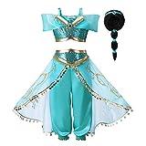 Pettigirl Mädchen Blau Paillette Klassisch Prinzessin Ankleiden Kostüm Outfit (6 Jahre, Kostüm...