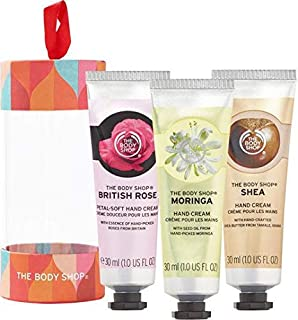 The body shop 30ml hand cream trio (british rose-Shea-moringa)