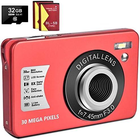 1080P Digital Camera 30MP Camera Compact Camera 2 7 inch Pocket Camera 8X Digital Zoom Rechargeable product image