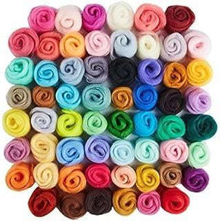 60 Colors Wool Roving | Felting Wool | Yarn Roving | Roving Wool | Needle Felting Wool | Fibre Wool | Discovering DIY