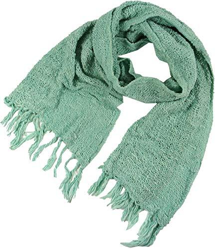 Guru-Shop, Gebreide Katoenen Sjaal, Mintgroen, Size:One Size, 160x40 cm, Sjaals