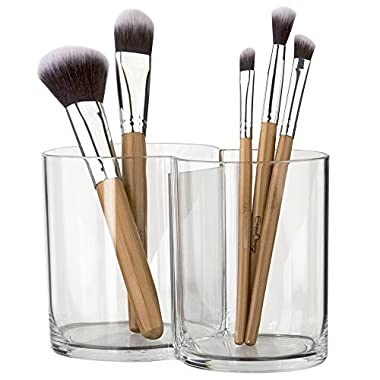 STORi Premium Quality Clear Plastic Multi-Purpose Makeup Brush Holder