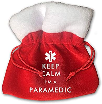 Keep Calm I'm A Paramedic Kids Christmas Drawstring Pouches Candy Jewelry Gift Bags from Clxisn