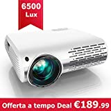 YABER Proiettore 6500 Lumen Videoproiettore Nativa 1080P 4D Keystone Correction ± 50° Led Full Hd...