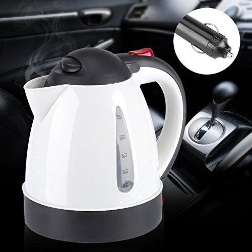 Coche caliente tetera portátil, 1000ml tetera de viaje de acero inoxidable, tetera de té eléctrica, Taza de calefacción eléctrica