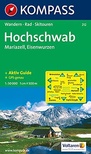 Hochschwab, Mariazell, Eisenwurzen: Wander-, Rad- und Skitourenkarte. GPS-genau. 1:50.000