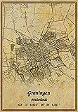 Niederlande Groningen Landkarte, Wandkunst, Poster,