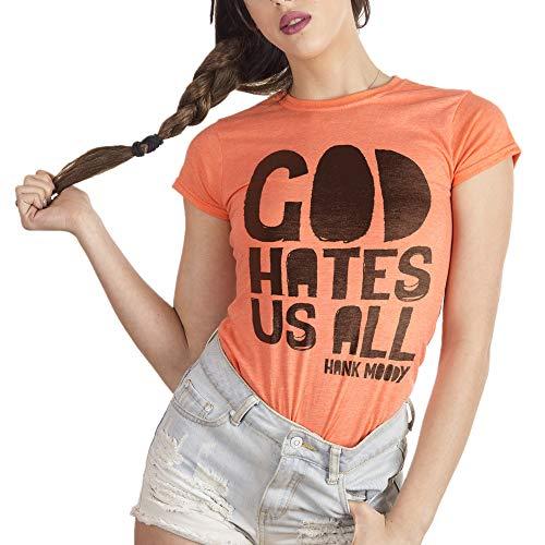 MUSH Eighteen Clothing Funny T-Shirt M Donna God Hates US all - Hank Moody - Californication