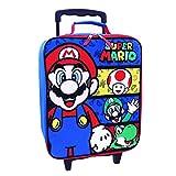 Mario Pilot Case スーパーマリオ パイロットケース スーツケース ローラー付きトランク 男の子 35cm [並行輸入品]