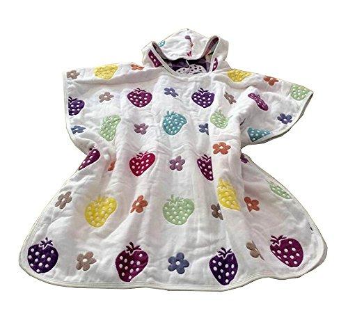 Serviette de bain bébé à capuche pour enfants Cape Peignoir Strawberry