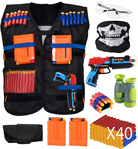 HOMILY Kids Tactical Vest Kits with Compatible for Nerf Guns for Boys N-Strike Elite Series