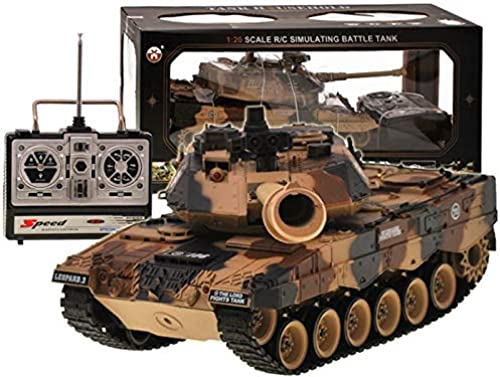RC Ferngesteuertes Realistische Battle Panzer - Leopard - Schussfunktion - Sound und Lichteffekte - 1 20 Ma ab - 2.4 GHz