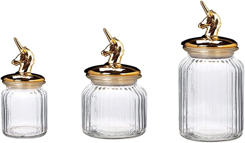 SALENEW very popular ZANZAN Storage Jars 3 Piece Kitchen Canister Glass Jar Free Shipping Cheap Bargain Gift Set with