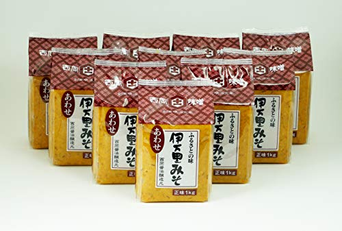 西岡醤油「伊万里あわせ味噌1kg」10個セット