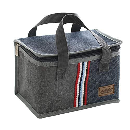 ZFFLYH lunchzak, Fashion Square draagbare isolatietas aluminiumfolie verdikte bento box tas voor vrouwen mannen kinder-thermosfles volwassenen dode box