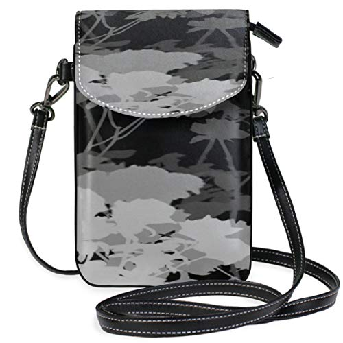 [Material and design:] Microfiber leather mobile phone bag, size: 4.9 * 7.6 in, personalized outsourcing printing, exquisite details, exquisite quality, stylish compact, easy to carry. One front pocket, two main pockets, and three card slots on the i...