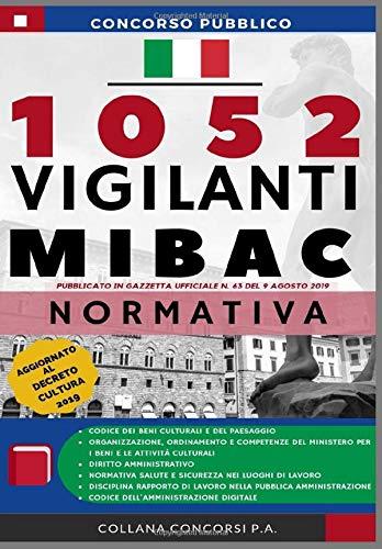 Concorso Pubblico 1052 Vigilanti MIBAC 2019: Raccolta Normativa