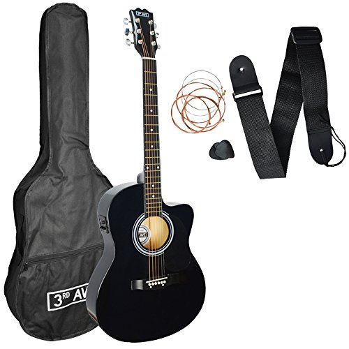 3rd Avenue Cutaway Electro Acoustic Guitar Pack - Black