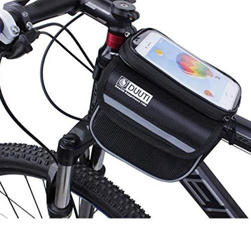 El Mayor fietstas met temperament, waterdicht, voor mobiele telefoon, mountainbike, fiets, uitrusting, fietsaccessoires, voor make-up en telefoon
