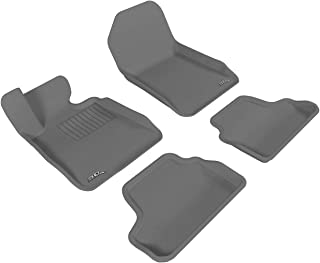 3D MAXpider Complete Set Custom Fit All-Weather Floor Mat for Select BMW 3 Series Convertible (E93) Models - Kagu Rubber (...