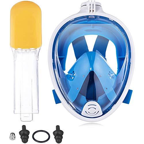 Buceo Cubierta De La Cara De Snorkel Cara Visera Careta De Buceo De La Cara del Visera De La Mujer del Hombre L XL De Adulto Azul /