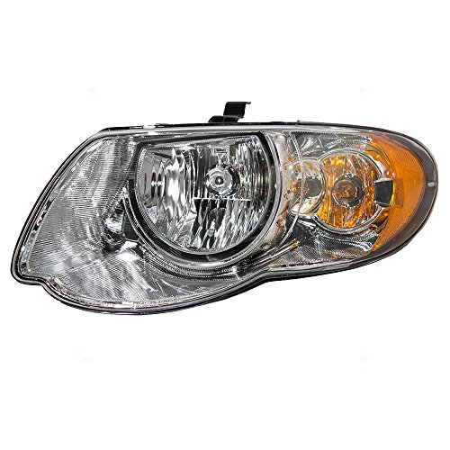 "Halogen Headlight Headlamp Driver Replacement for 05-07 Chrysler Town & Country Van with 119"" Wheel Base 4857991AD"