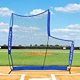 FORTRESS Cricket L-Screen - Pop Up 7ft x 7ft Ball Protector Screen - Carry Bag Included