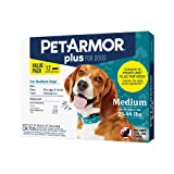 PetArmor Plus for Medium Dogs 23-44 lbs, Flea and Tick Protection for Dogs, Long-Lasting and Fast-Acting Topical Dog Flea Treatment, 12-Month Supply