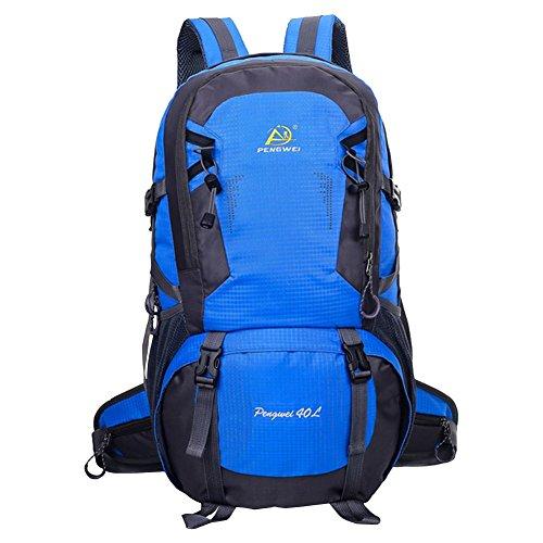 hikerway imperméable 40 MOUNTAIN Sac à dos de voyage randonnée camping sauvage Casual Lave-vaisselle Bleu Bleu