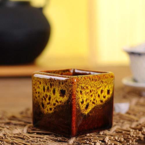 Houer Oven op hoge temperatuur in vierkante kleine bloempotten Meer vleesbak Eenvoudige veelkleurige keramische mini-vlezige duimbak, 2