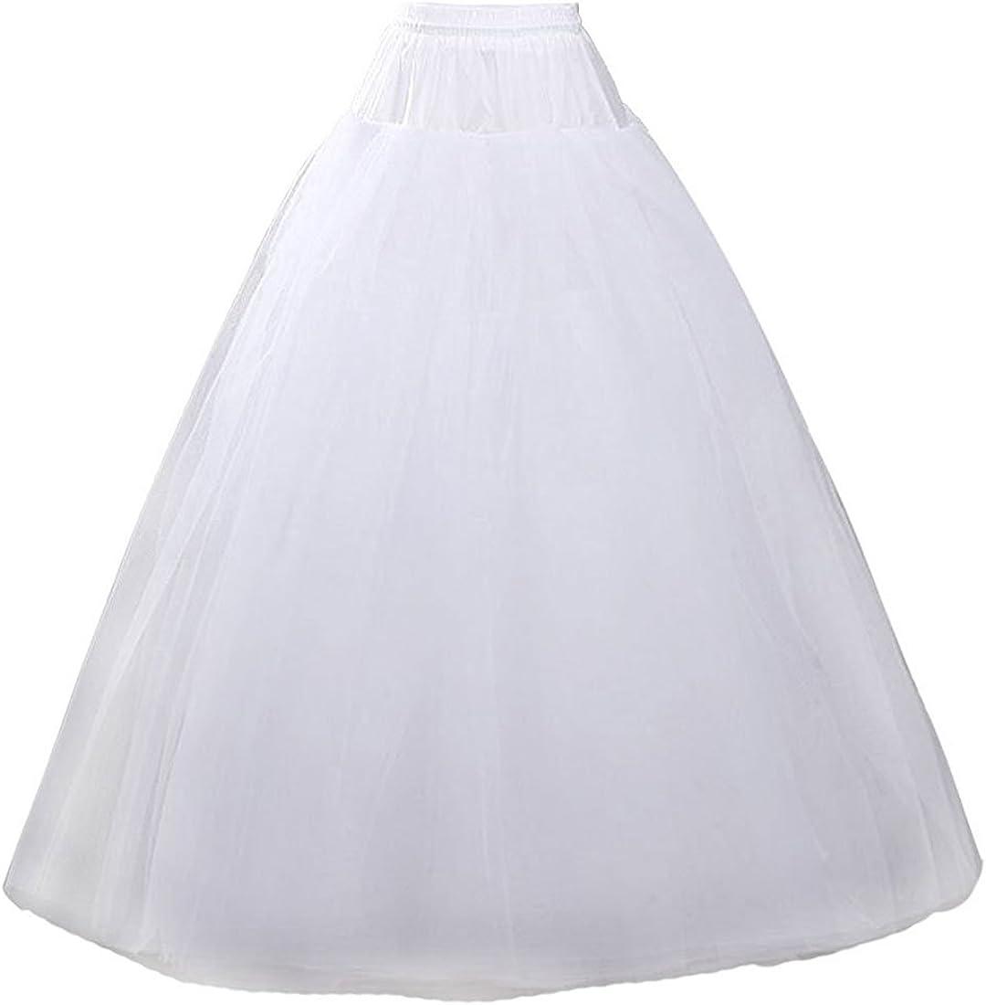 dannifore Women's White Full Slips Boston Mall for Petticoat Eve Formal Surprise price Long
