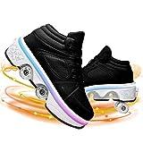 YXRPK 7 Colores Luminosas Deformación Patines De Ruedas para Niños Niñas USB Carga Ajustable Caminata Automática Zapatos con Ruedas Mejores Regalos