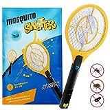Zenoplige Raqueta Mosquitos Eléctrico, Fly Swatter/Killer y Raqueta Bug Zapper - Carga USB de 4.000 voltios, Superficie Multicapa Que Garantiza Seguridad y Facilidad de Uso