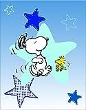 CTI 042746Snoopy Wake Up Fleecedecke Polyester blau 110x 140cm