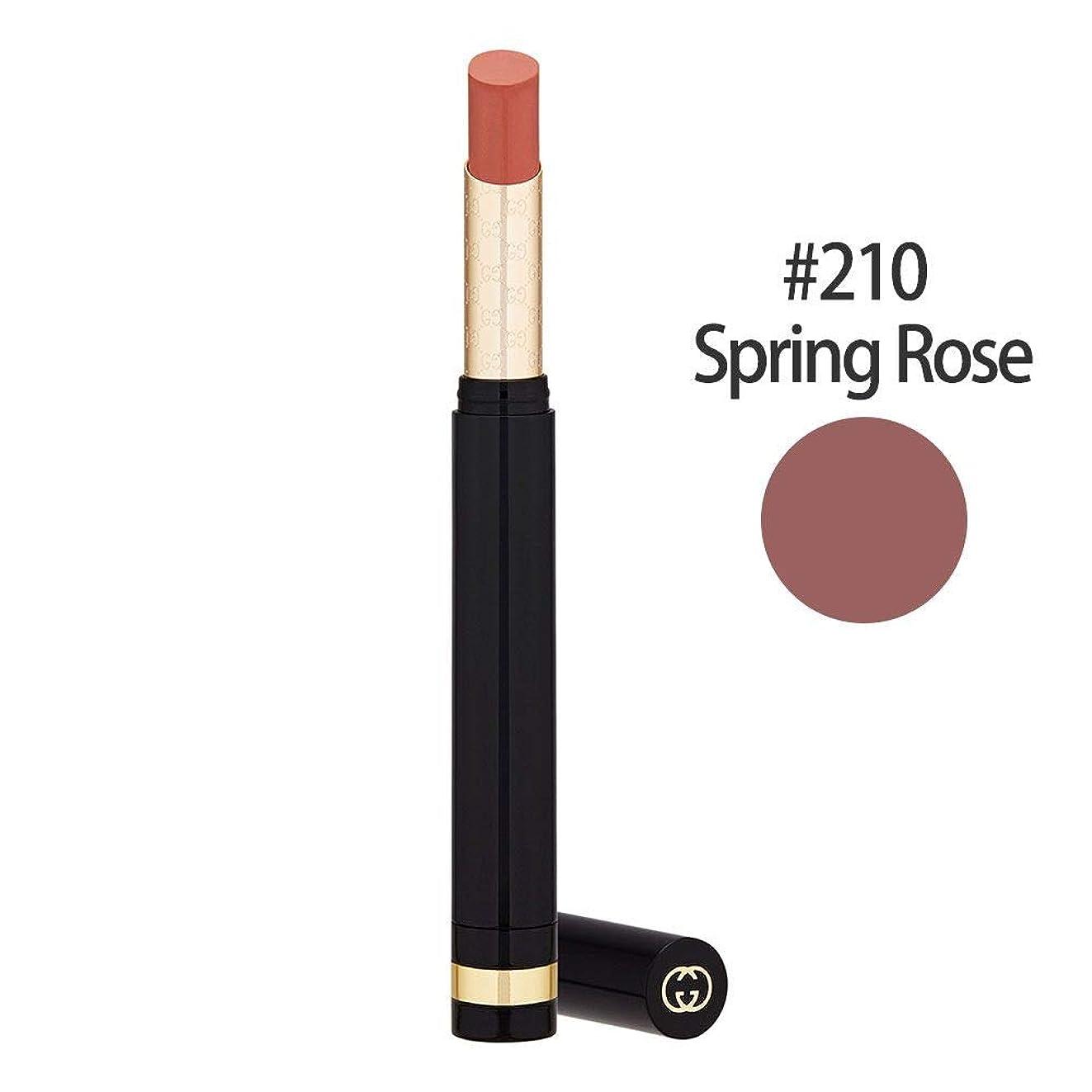 講義もつれ上昇グッチ(GUCCI) センシュアスディープマット リップスティック #210(Spring Rose) 1.5g [並行輸入品]