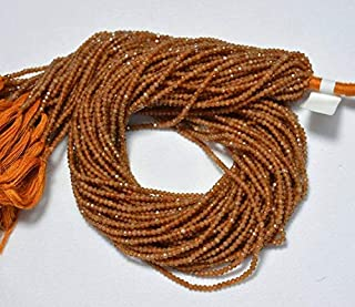 Jewel Beads Natural Beautiful jewellery 5 Strands, 2.20mm Hessonite Garnet Beads, Faceted Rondelle Beads, Garnet Rondelles, Gemstone Beads, 12.5 InchesCode:- JBB-5746