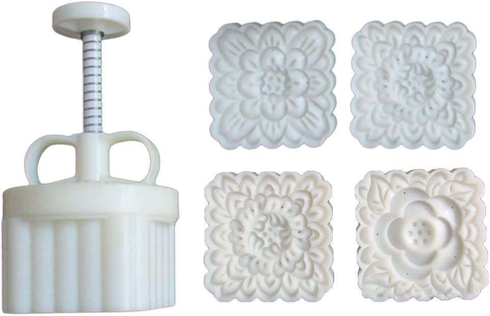Plastic Mooncake Mold 180g Square Cutter Popular shop is the lowest price challenge Popular products Cookie Stamp Mou Flower