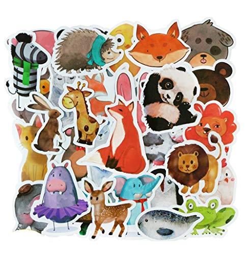 ⭐Top Aufkleber! ⭐ Set von 50 Tieren Aufkleber Premium Qualität - Vinyls Stickers Nicht Vulgär von Tier – Fashion, Bomb, Grafitti, Cool - Anpassung Laptop, Gepäck, Motorrad, Fahrrad, Skateboard