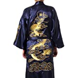 Chinese Men's Silk Satin Embroider...