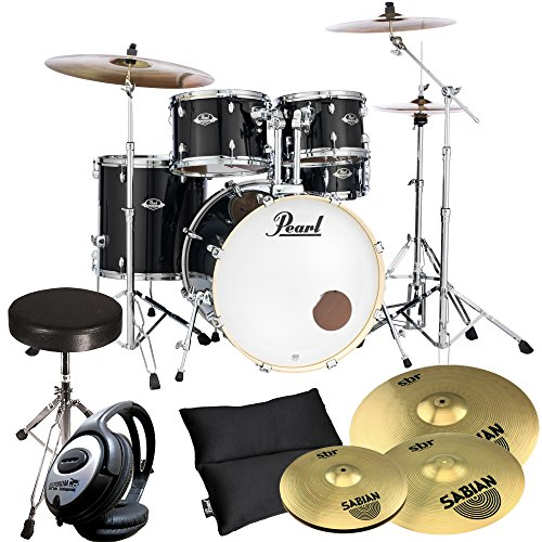 Pearl Export EXX725Z/C31 Black Inkl Becken + keepdrum Drum-Hocker + Kopfhörer