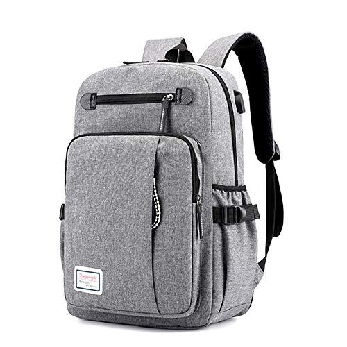 LUYIYI バックパック大容量旅行バックパック学生コンピューターバッグ (Color : Grey)
