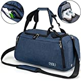 BonClare Sports Duffle Bag with Shoes Compartment and Wet Pocket, 42L Waterproof Gym